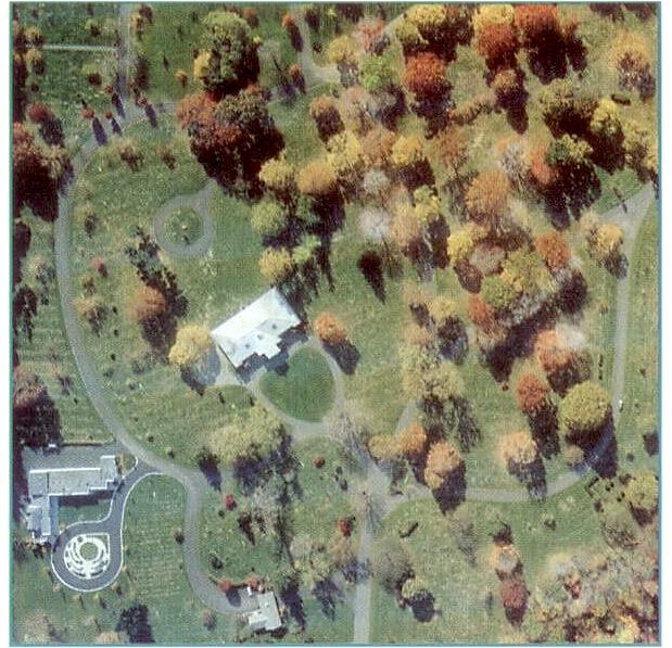 Aerial of Lakewood Park Cemetery