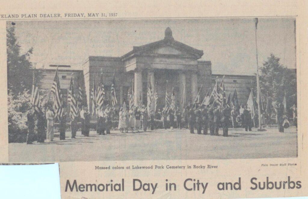 Memorial Day May 31, 1957